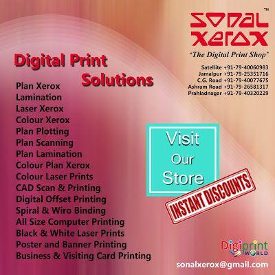 Digital Print Solutions By Sonal Xerox Digital Prints Shop Digital Prints Solutions