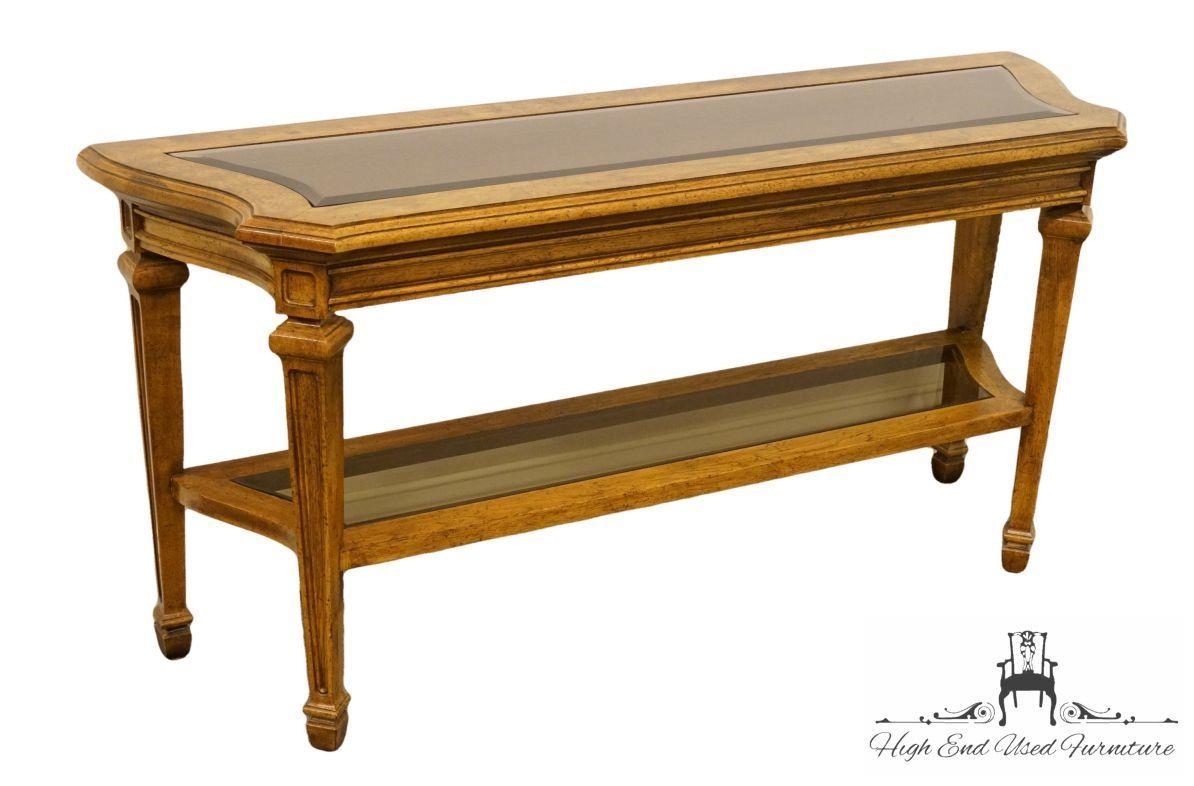 High End Italian Neoclassical Tuscan 54 Entryway Sofa Table