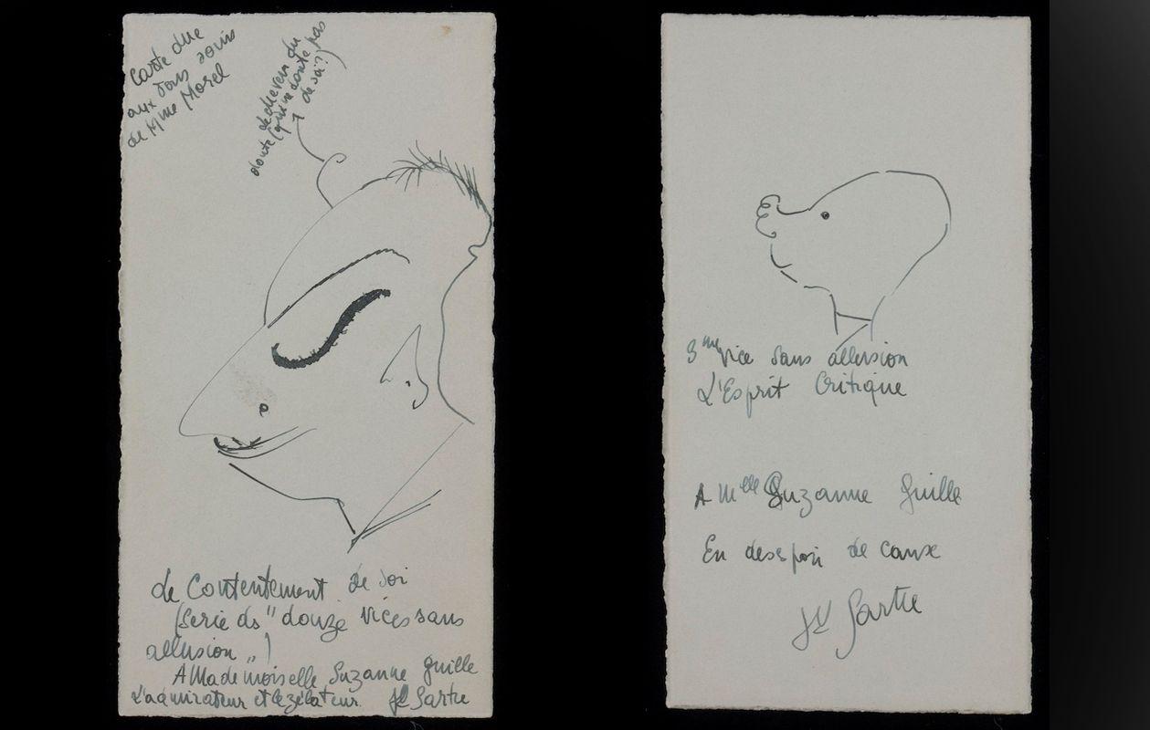 Faena Sphere | Doce vicios sin alusión: los dibujos de Jean-Paul Sartre