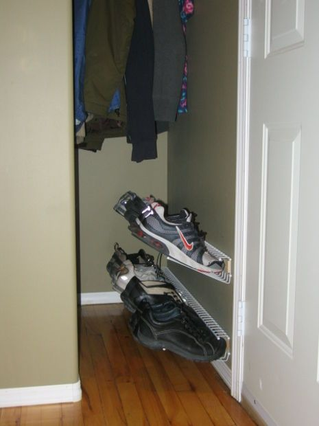 Floating Shoe Rack Shoe rack, Boot storage and Wire shelving