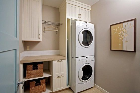 Asko Stackable Washer Dryer Laundry Room Traditional With