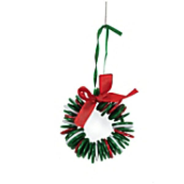 Makes 12 Button Wreath Ornament Christmas Craft Kit