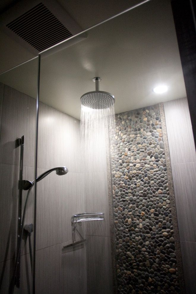 No Tile On Ceiling Http Www Homefavour Category Shower Head Rain Bathroom Modern With Beach Architecture Organic