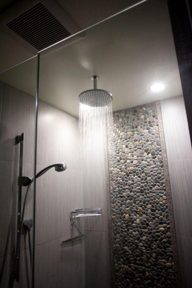 15 Beautiful Bathrooms With Rain Shower Rain Shower Bathroom