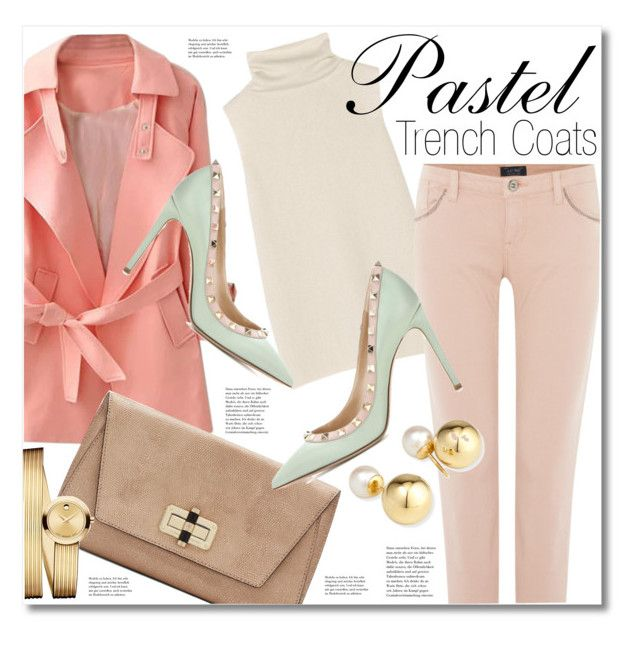 """""""Pretty Pastel Trench Coats"""" by miee0105 ❤ liked on Polyvore featuring The Row, Valentino, Diane Von Furstenberg, Armani Jeans, Yoko London, Movado, women's clothing, women's fashion, women and female"""