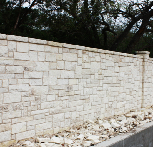 Clean White Lines On This Stone Wall Frame Your Property In Elegant Style Wood Gate Frames On Wall Stone Wall