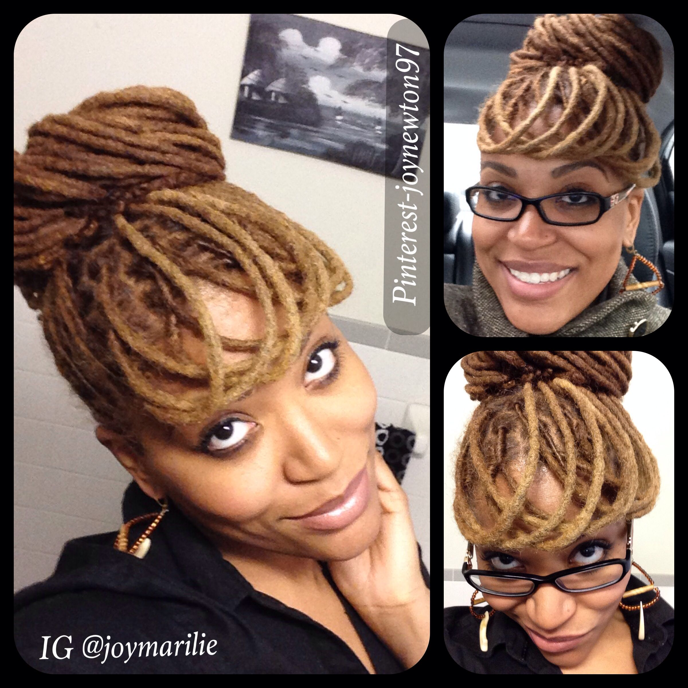 loc styles, dreads, locs, locks, faux loc bangs. | natural