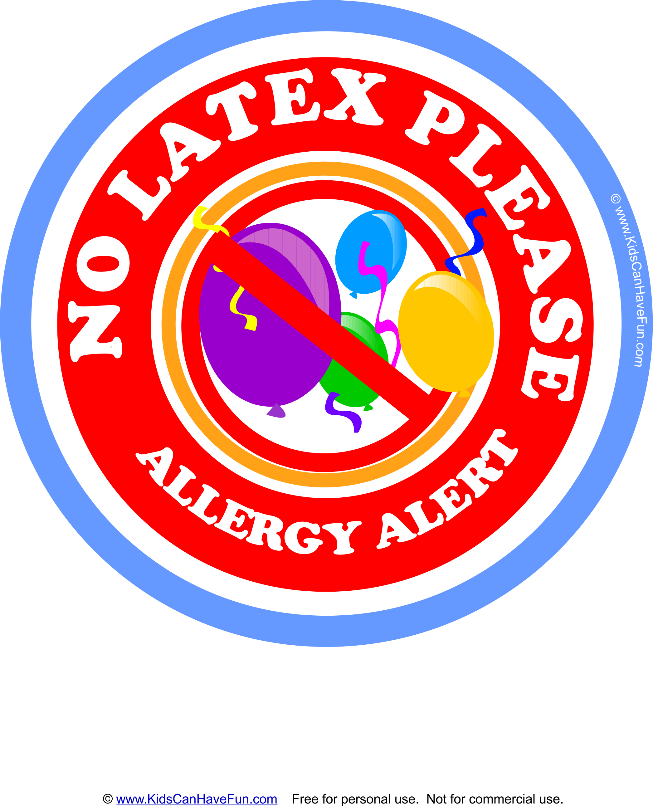 No Latex Please with Balloons Allergy Alert #latexallergy #allergies  #allergylabels