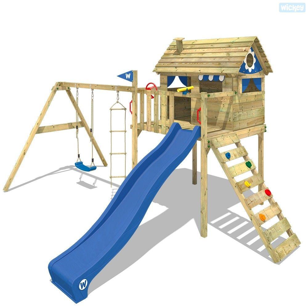 wickey baumhaus smart treetop kletterturm spielturm mit rutsche