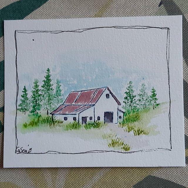 Stil learning but getting better #aiwatercolor #aistamps #artimpressions #artimpressionswatercolor #watercolor #artimpressionsstamps…