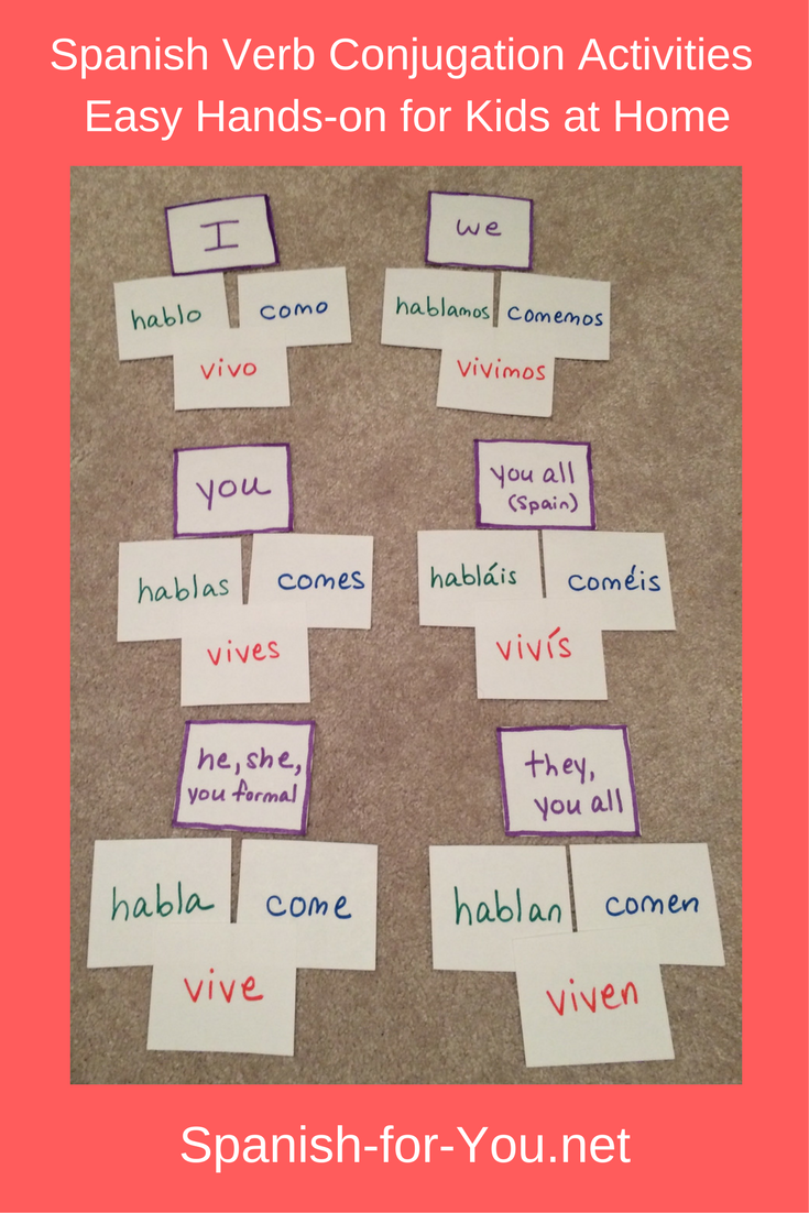 Spanish Verb Conjugation Activities For Kids Spanish For You Spanish Verb Conjugation Spanish Verbs Learning Spanish [ 1102 x 735 Pixel ]