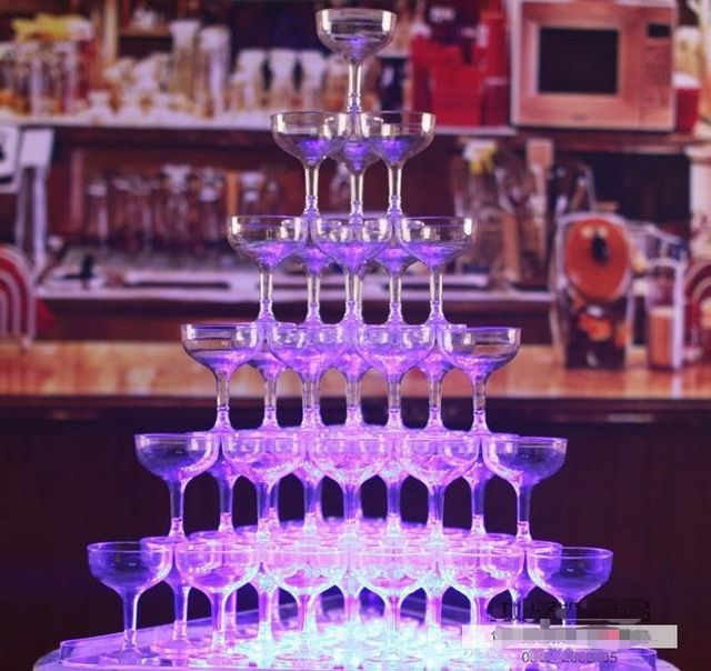 wholesale cup tower wedding props party decoration plastic champagne cup Wineglass champagne goblet tower wedding party supply-in Event & Party Supplies from Home & Garden on Aliexpress.com | Alibaba Group