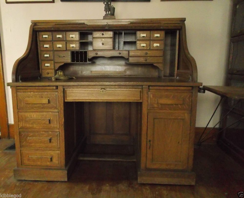 Antique Rolltop Desk With Images