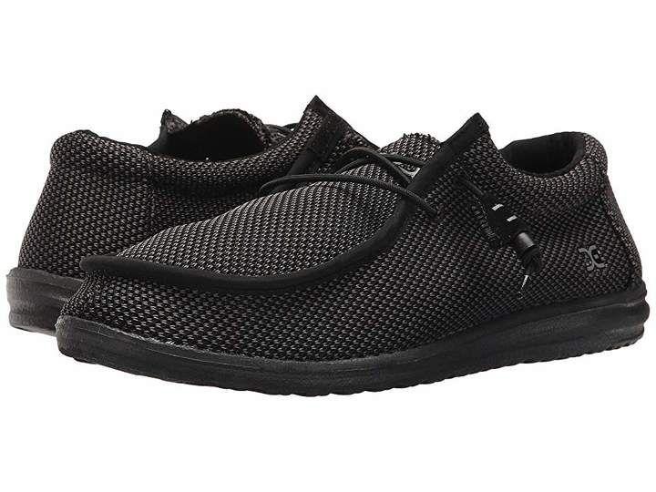 Hey dude wally l sox mens shoes black black shoes men