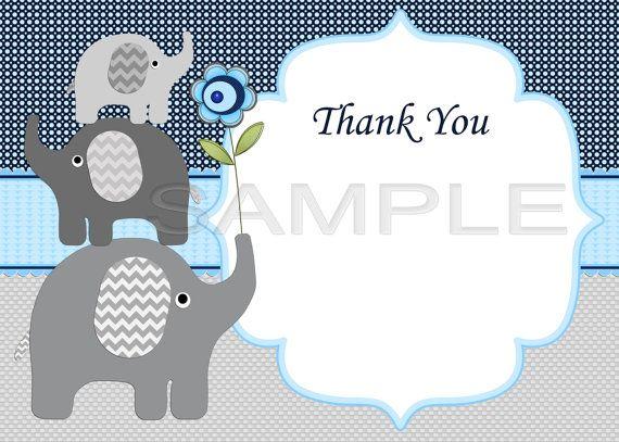 Elephant Baby Shower Invitation Boy Baby Shower invitations ...