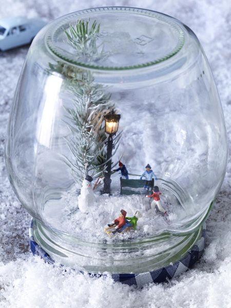 Diy tipp s e schneekugeln winter xmas and decoration - Winterlandschaft deko ...