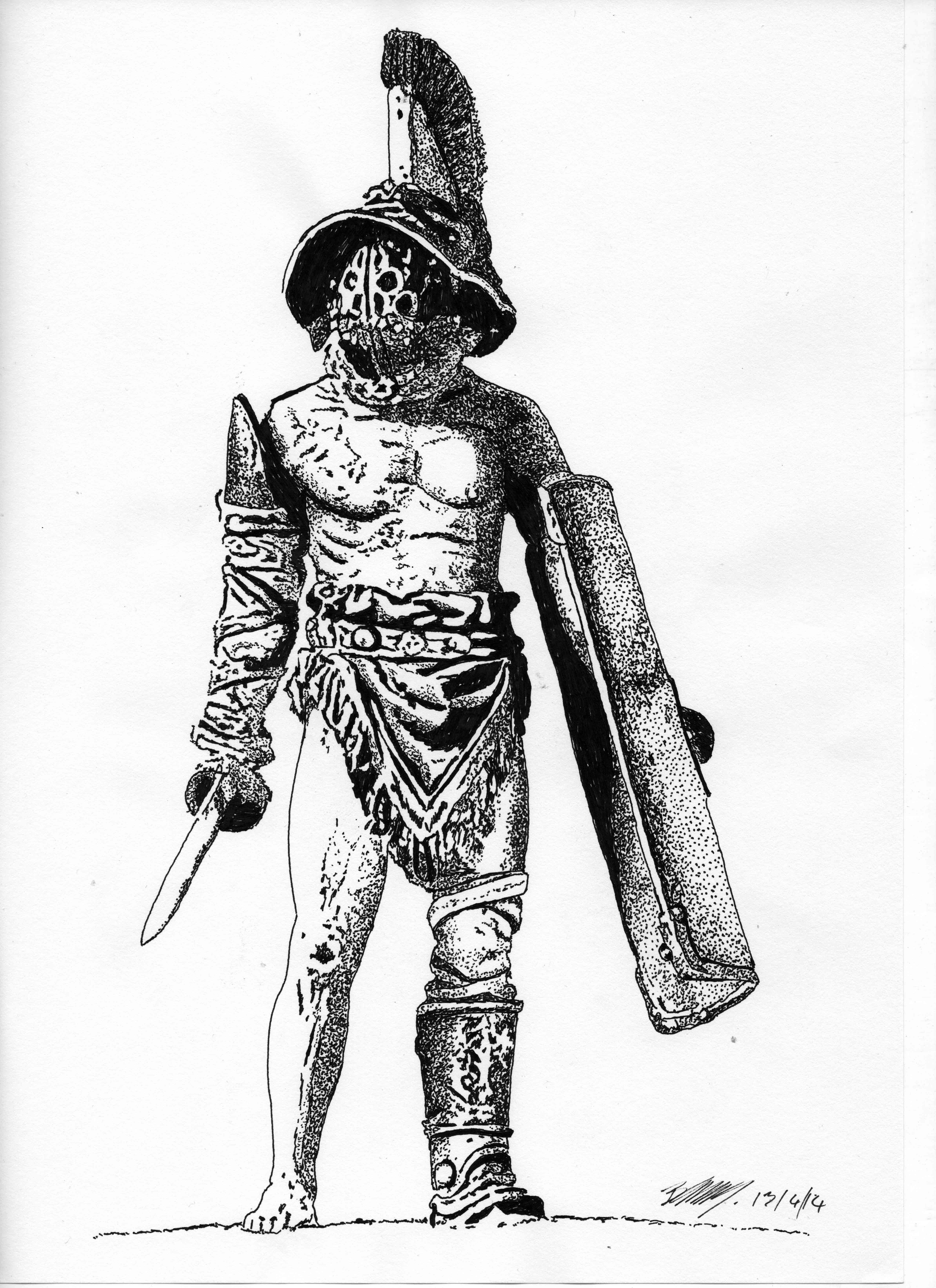 Krieger Gladiator Tattoo Vorlagen