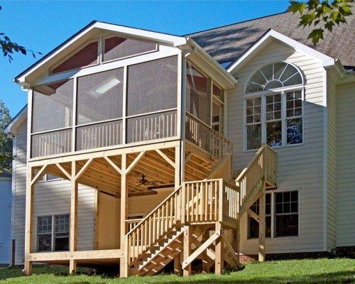 Multi Level Decks Design And Ideas Porch Design Screened In Porch House With Porch
