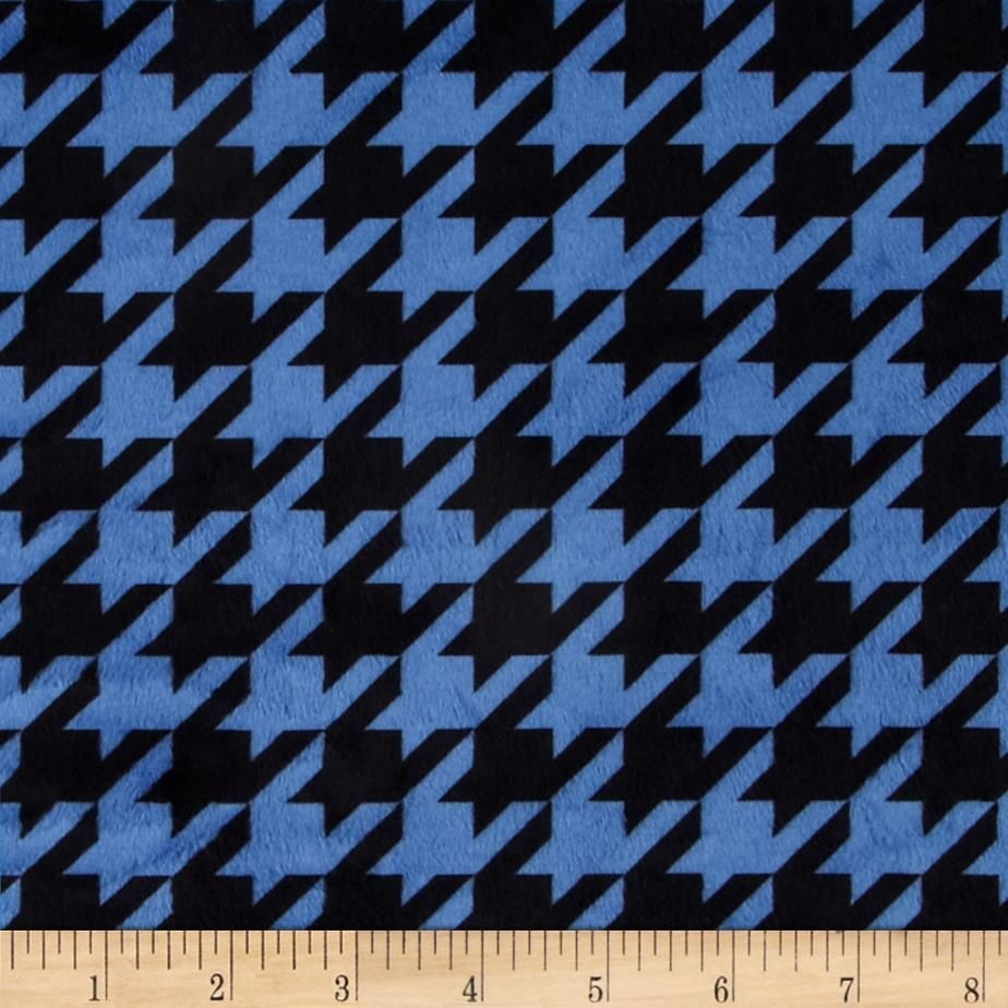This extraordinary soft and cuddly fabric has a smooth minky surface and soft 3 mm pile. It's perfect for baby accessories, blankets, throws, pillows and stuffed animals. Colors include electric blue and black.