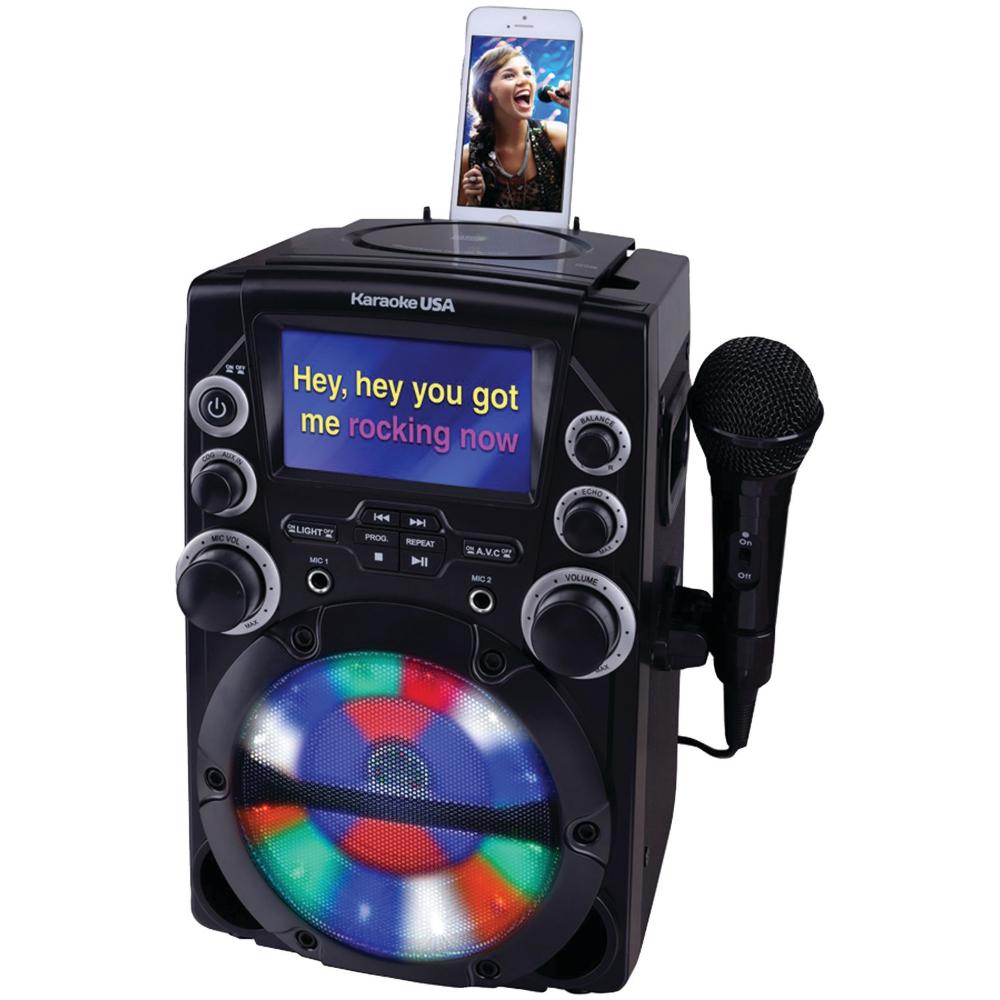 Karaoke USA GQ740 CD+G Karaoke System with 4.3 Color TFT Screen - Walmart.com