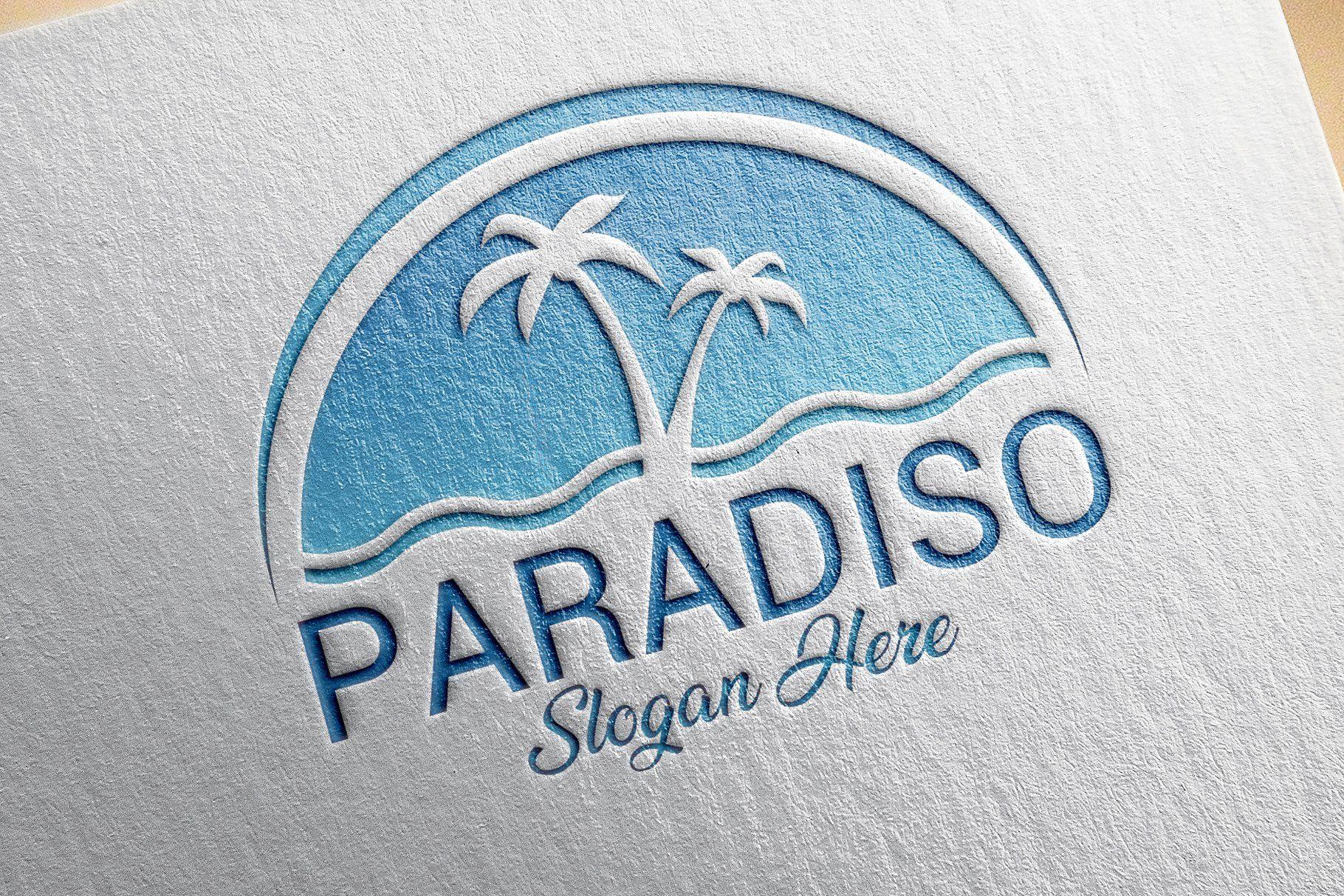 Tropical Beach Logo Design Template Logos 1 Con Imagenes