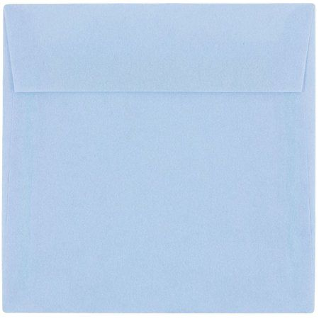 Jam 6 5x6 5 Translucent Envelopes Blue 25 Pack Surf Blue Invitation Envelopes Vellum Envelope Square Envelopes