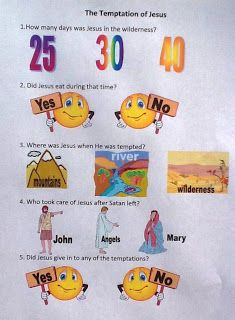 Jesus Is Tempted Craft : jesus, tempted, craft, Bible, Kids:, Jesus, Tempted, Lessons, Kids,, Crafts,, Preschool