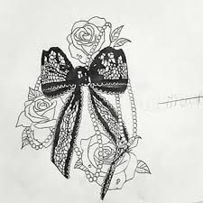 Bow Tattoo improved by Rhianne-Almond on DeviantArt  |Bow Tattoo Sketches