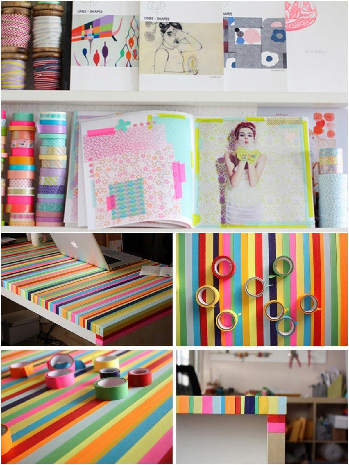 DIY // Decoração com Durex Colorido | - Ideias (: | Pinterest ...
