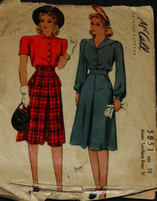McCall 3851: Misses' two-piece dress
