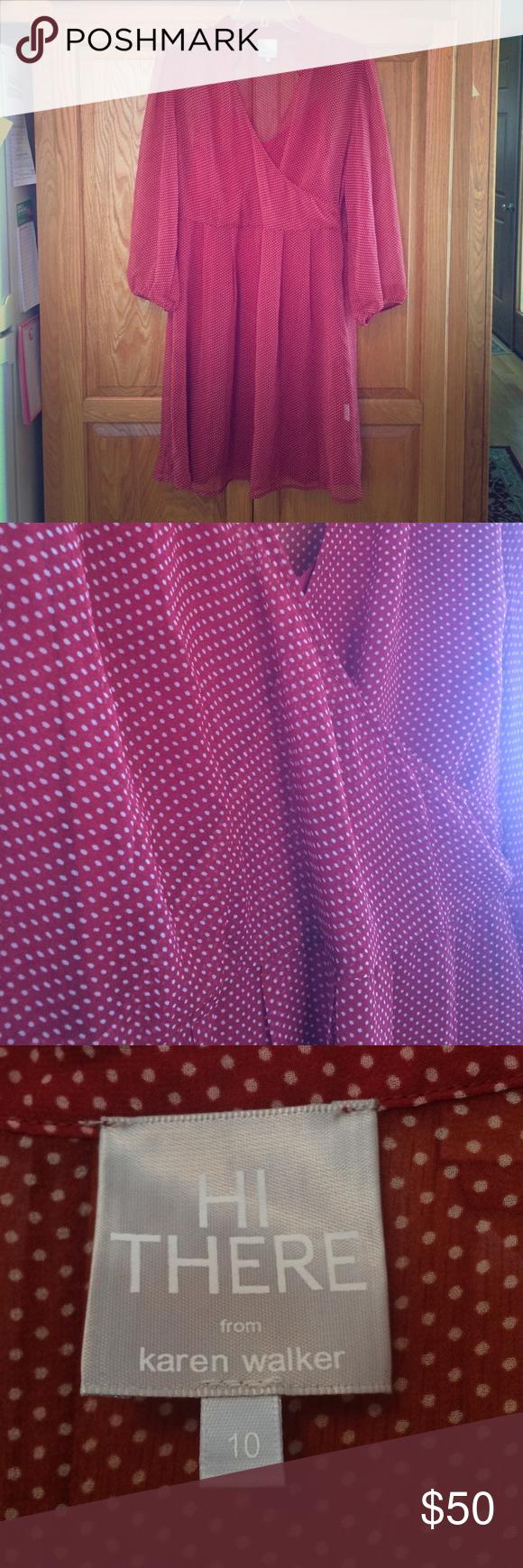 Red polka dot dress red polka dot dress karen walker and