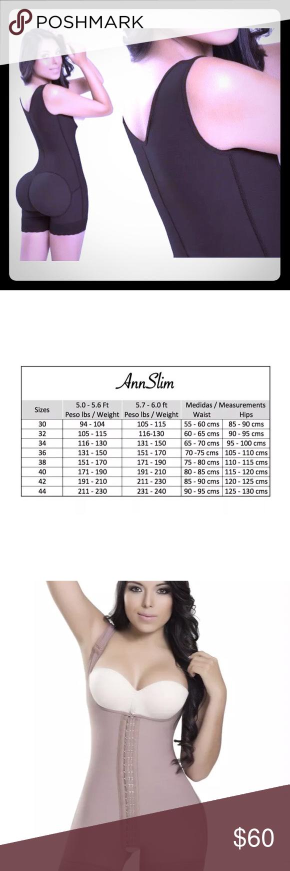 Ann Slim Faja Shapewear Size L See Size Chart Ann Slim The