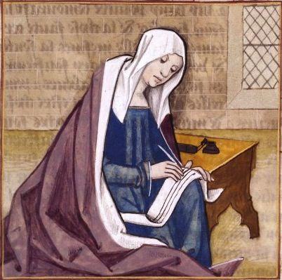 LXXXVI-La poétesse Cornificia écrivant (CORNIFICIA, a ...