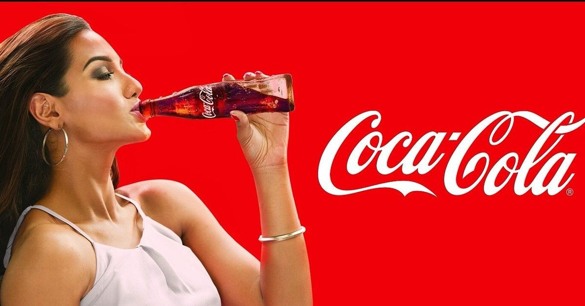 sexy women with coca cola