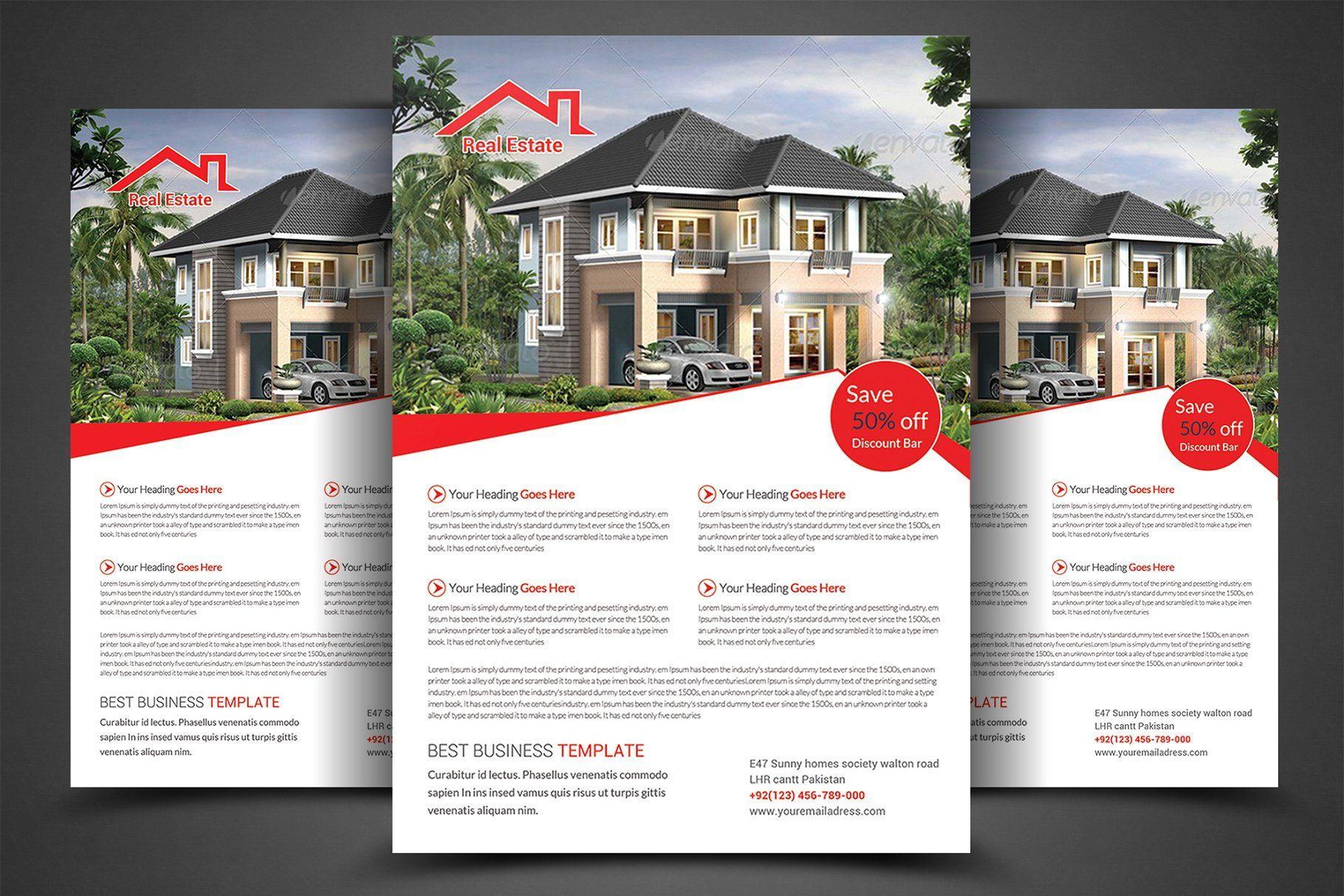 real estate flyer template estate real flyer templates design