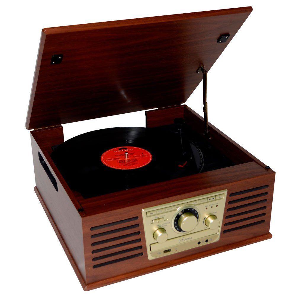 Sistema de Áudio CTX Sonata, Toca Discos, USB, CD Player - Link