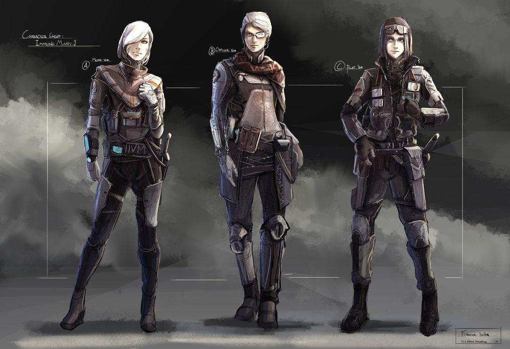 Scifi Girl Design By Aisxos On Deviantart Female Character