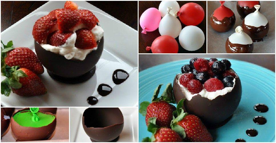 How To Make Chocolate Bowls - http://diytag.com/how-to-make-chocolate-bowls/