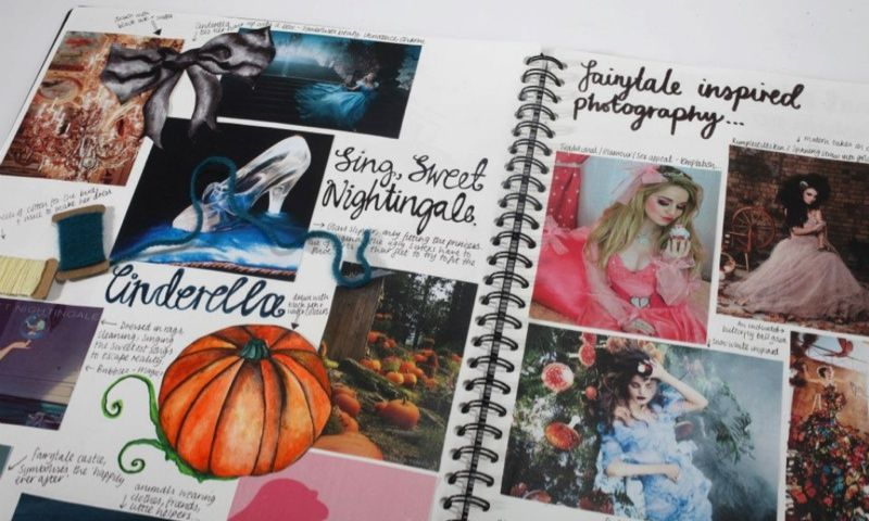 A Level Textiles  Beautiful Sketchbook Pages