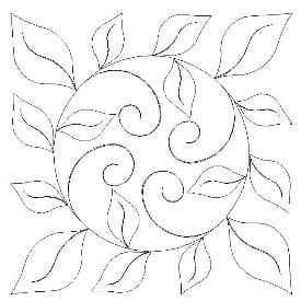 Use a circle template to draw in the circle and then add