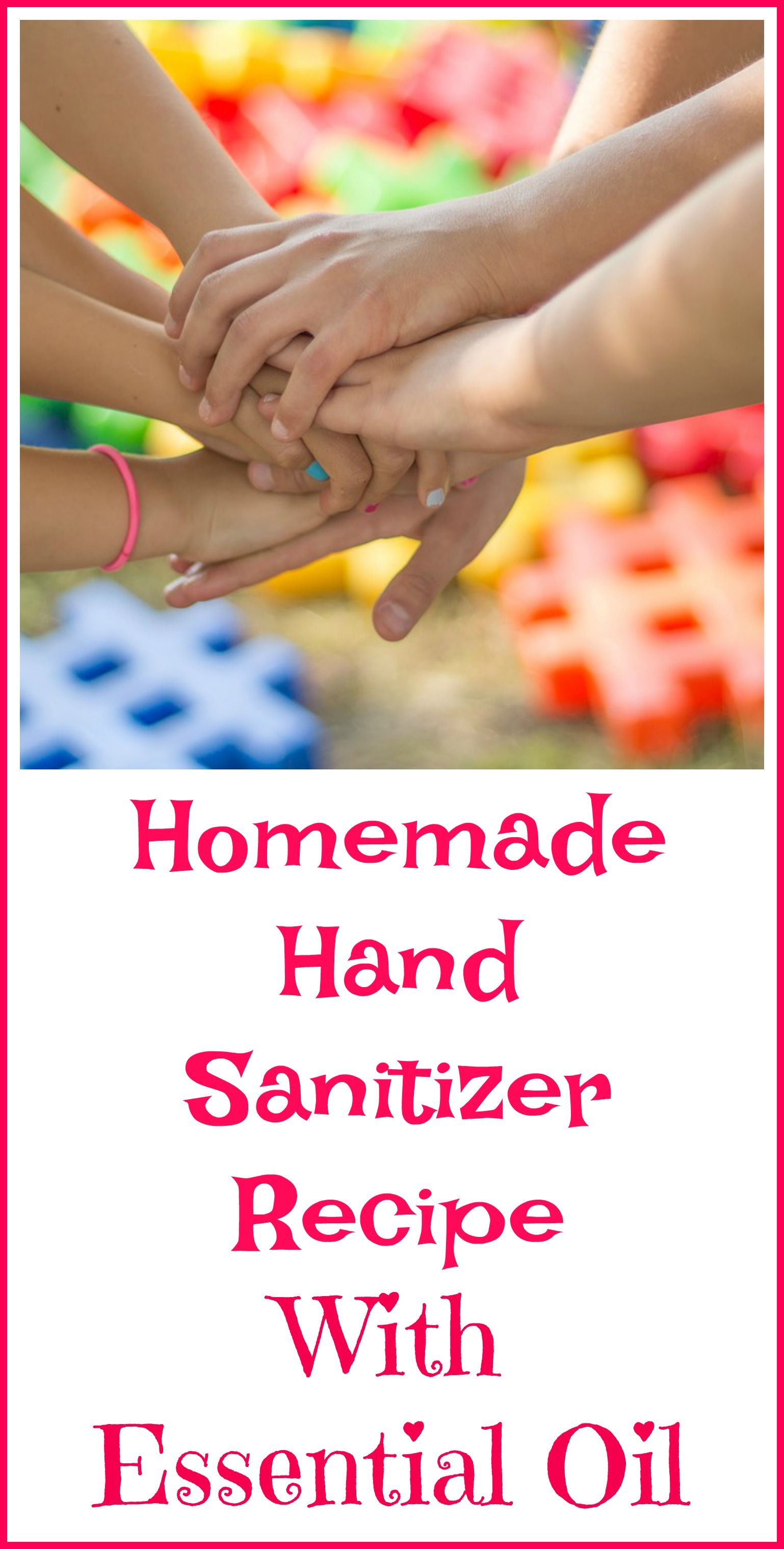 DIY Hand Sanitizer Without Alcohol Essential oil blends