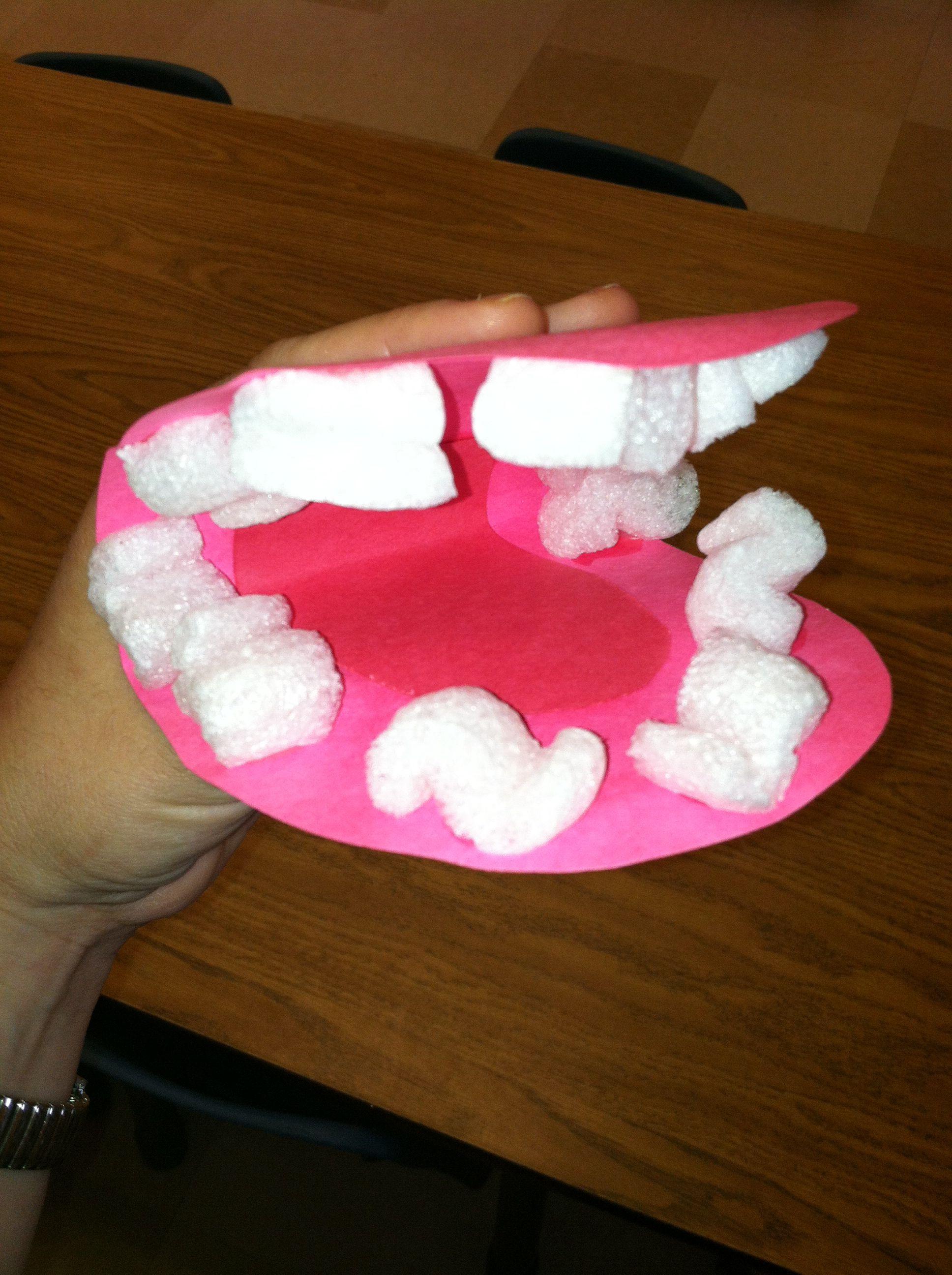 Dental Awareness Week Mouth Craft