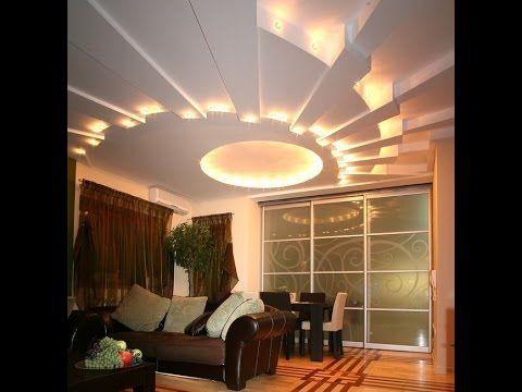Plafond salon soci t ms platre d coration false ceiling design pop false - Decoration plafond salon ...