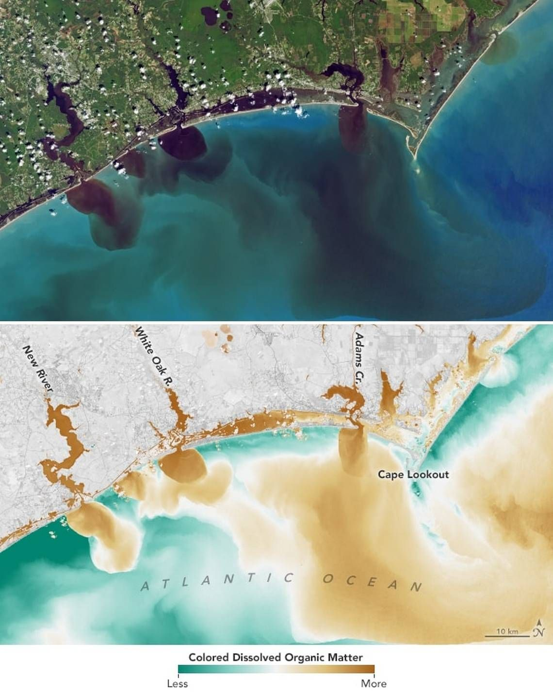 Nasa Can See Dark Polluted Carolina Rivers Spilling Into The Ocean From Space Ecology Ocean Groundwater