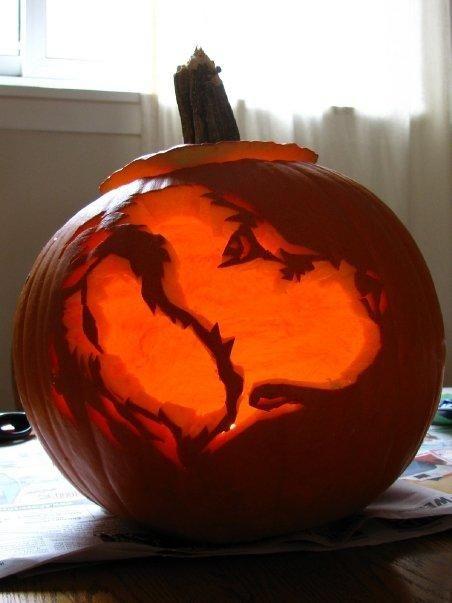 Labrador Retriever Pumpkin Stencil Dog Breed Pumpkin Carving