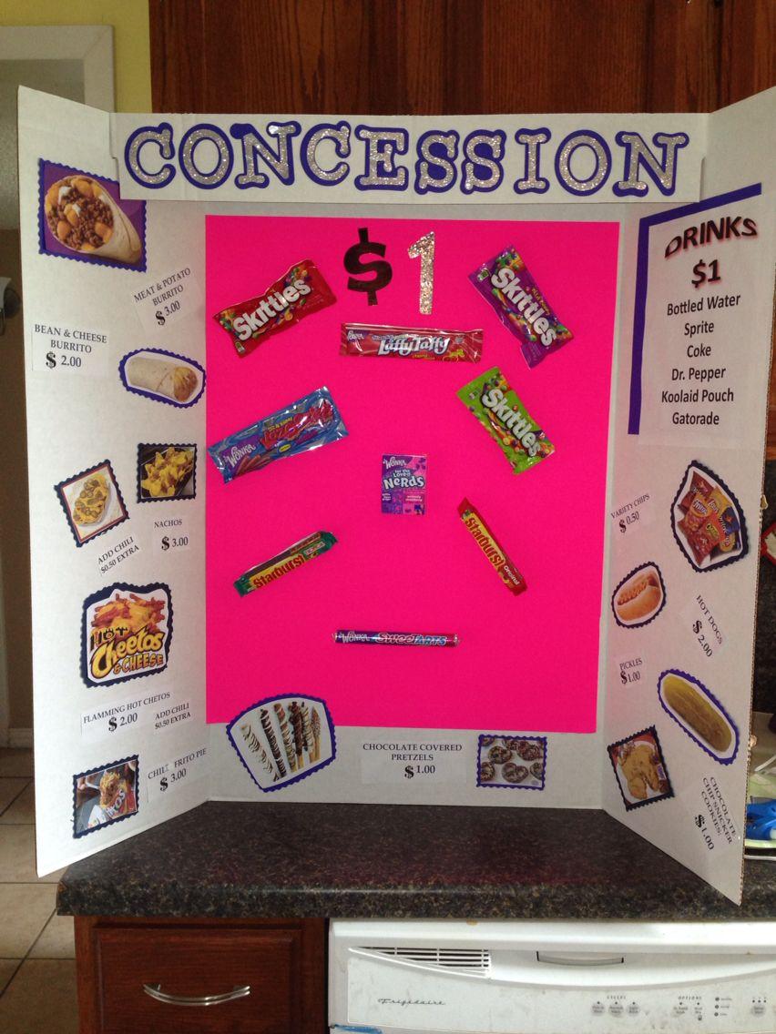 Concession Stand Menu Organization Ideas Concession
