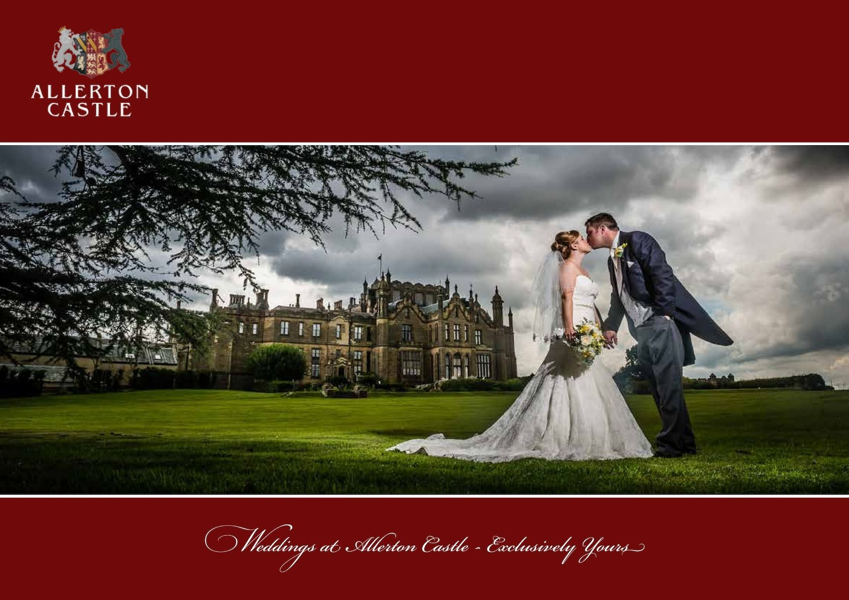 wedding reception venues north yorkshire%0A A brochure produced for Allerton Castle  An outstanding wedding venue and  excellent location in North