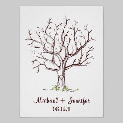 Wedding Fingerprint Tree Guestbook Template
