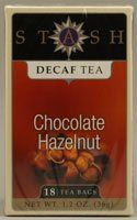 Black Tea Chocolate Hazelnut Decaf is a deliciously smooth and rich dessert tea. These teas are naturally decaffeinated, so you can savor this tea any time of day.