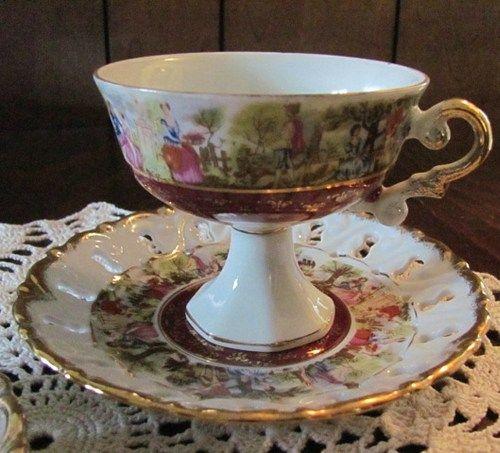 Vintage Enesco teacup and saucer sets..